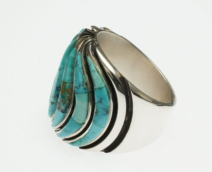 Earl Plummer Turquoise Wave Ring