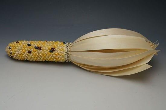 Theresa Secord baskets: large maize