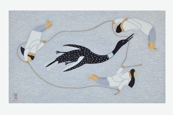 Qavavau Manumie: Chasing the Loon 2015 etching & aquatint