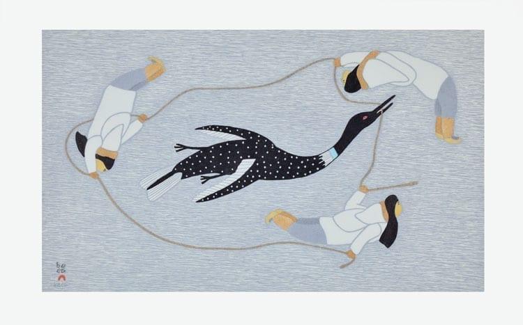 Qavavau Manumie: Chasing the Loon 2015 etching & aquatint