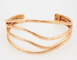 Decontie & Brown copper wave bracelet; Penobscot art.