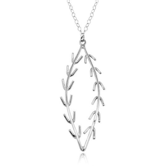 Decontie & Brown Wabanaki vine necklace, sterling silver