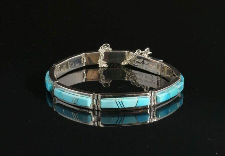Earl Plummer turquoise link bracelet