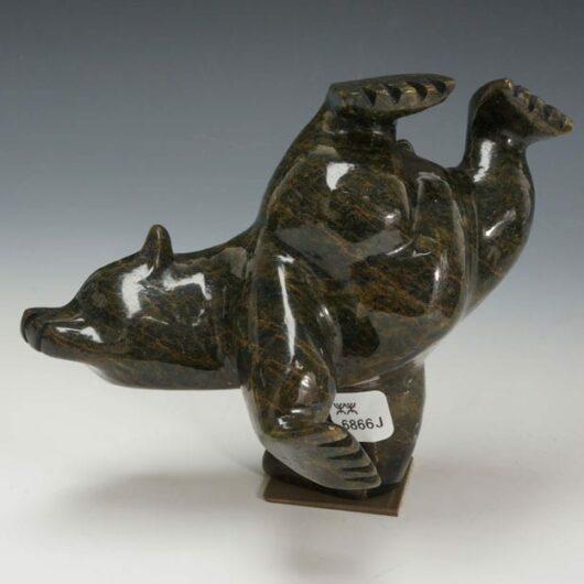 Mosesie Pootoogook dancing bear
