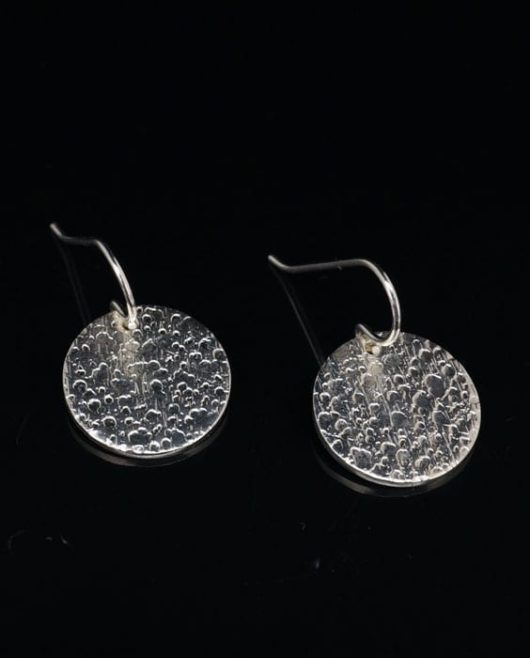 Chris Pruitt coin earrings