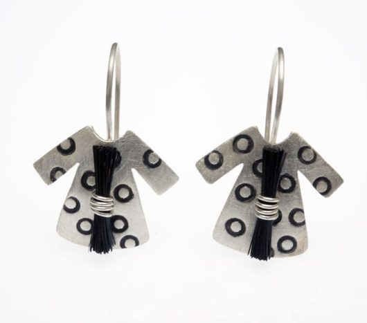 Heidi BigKnife Genetic Memory Dress earrings with circles