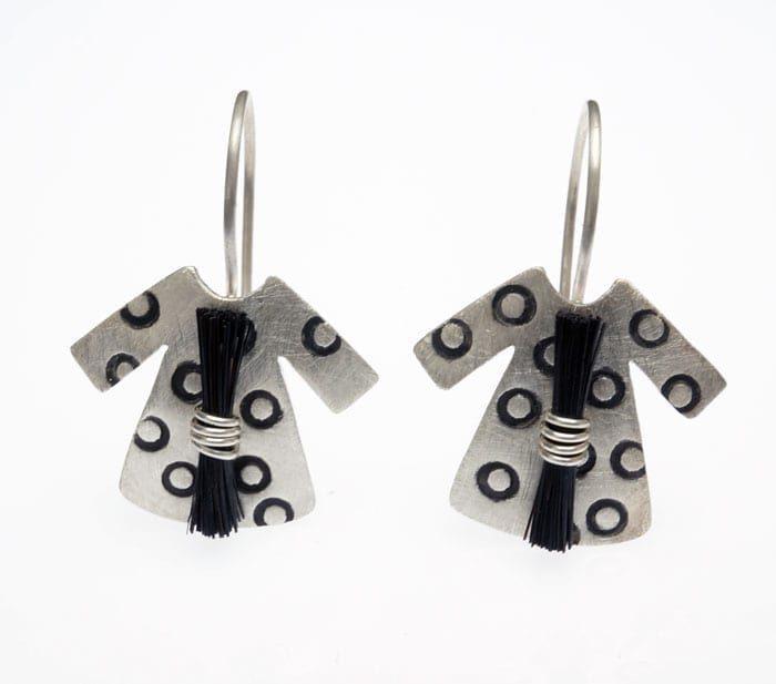 Heidi BigKnife Genetic Memory Dress earrings with circles