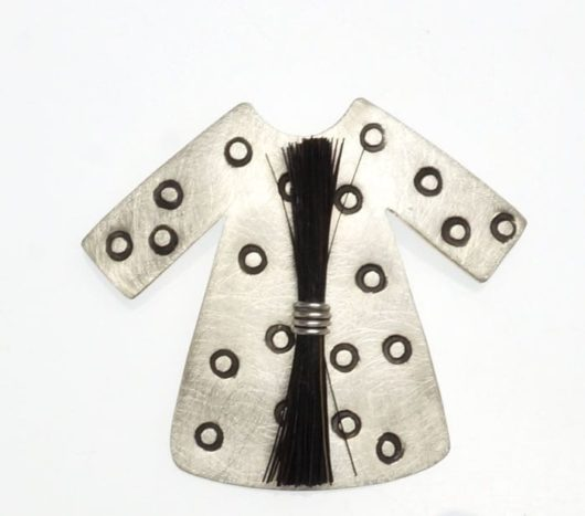 Heidi BigKnife Genetic Memory Dress pin with circles