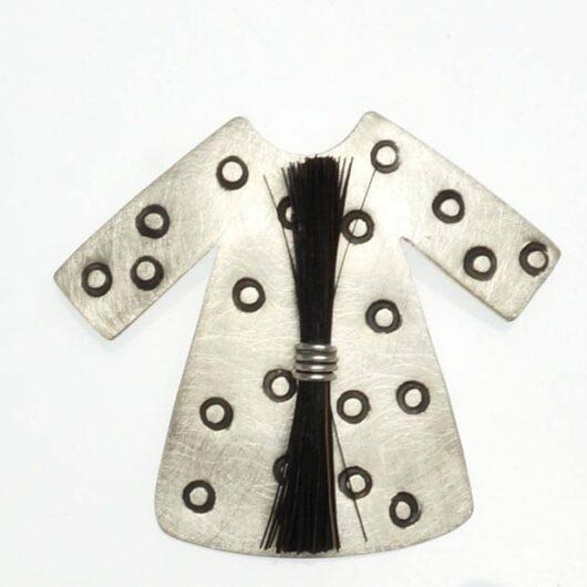 Heidi BigKnife Genetic Memory Dress pin with circles