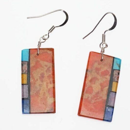 Mary Tafoya Side Inlay Earrings 5