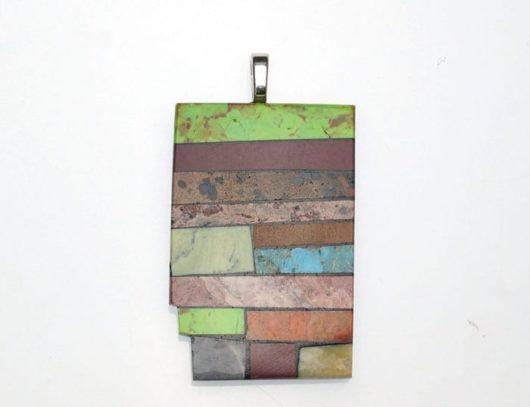 Mary Tafoya Mosaic Pendant