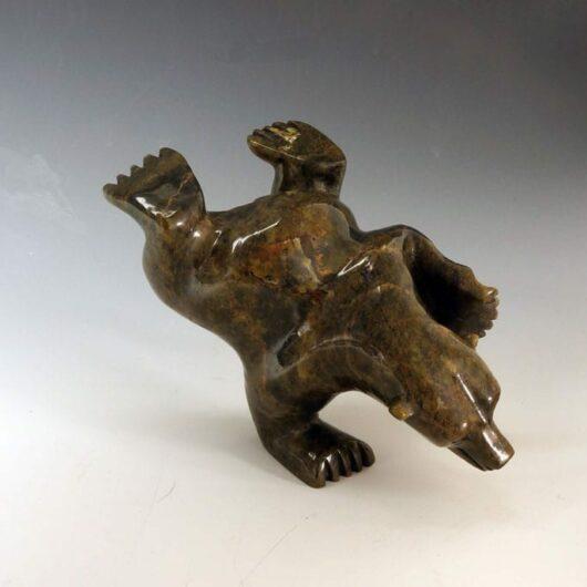 Moe Pootoogook diving bear