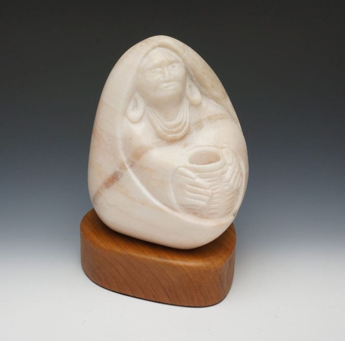 Tim Shay seated woman