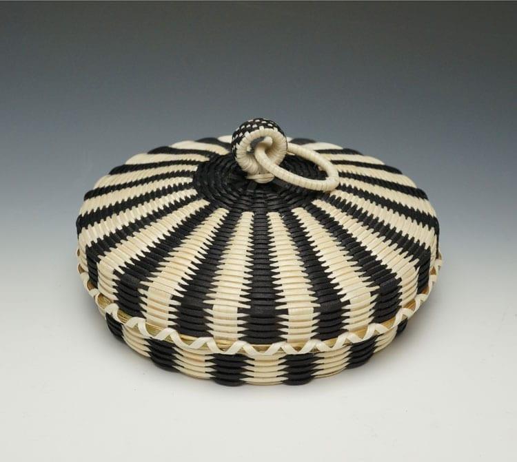 Jeremy Frey flat fine-weave basket