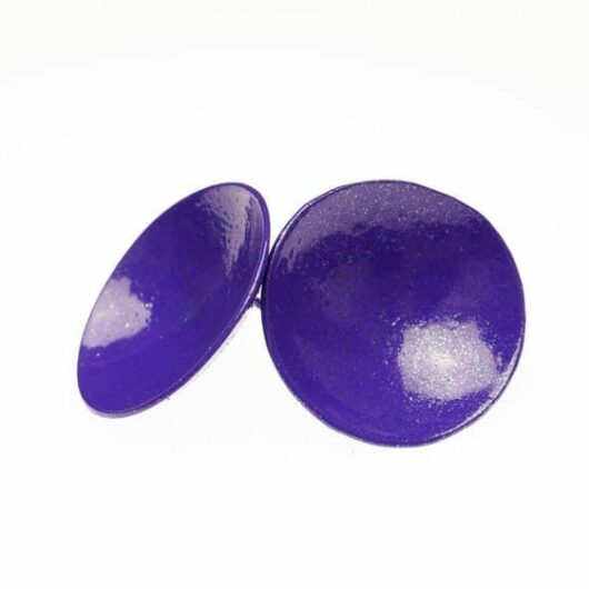 Margaret Jacobs purple disc earrings