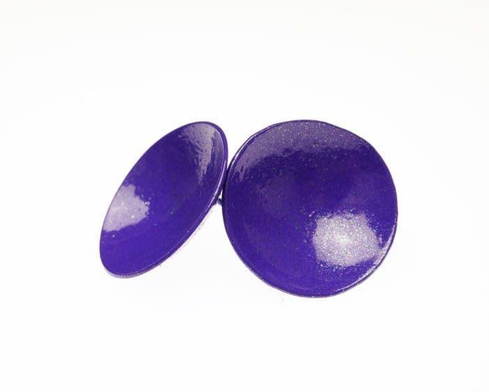 Margaret Jacobs purple disc earrings