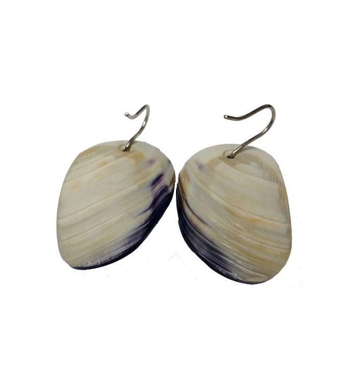 Elizabeth James-Perry Wampum earrings
