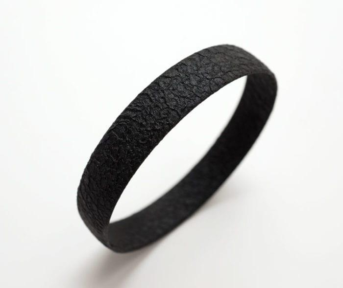 Margaret Jacobs Textured Black Cuff Bracelet