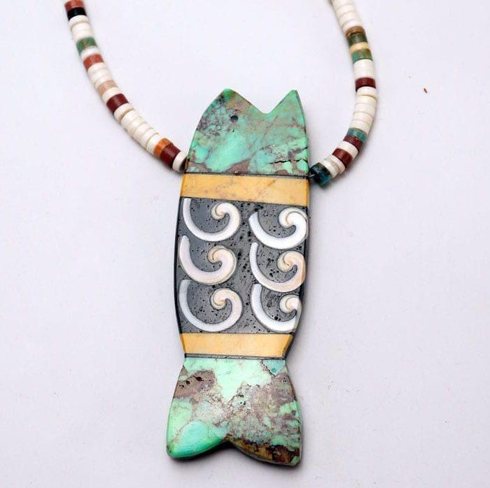 Mary Tafoya Fish Necklace