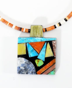 Mary Tafoya Rectangular Necklace 2