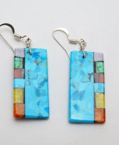 Mary Tafoya side mosaic earrings 2