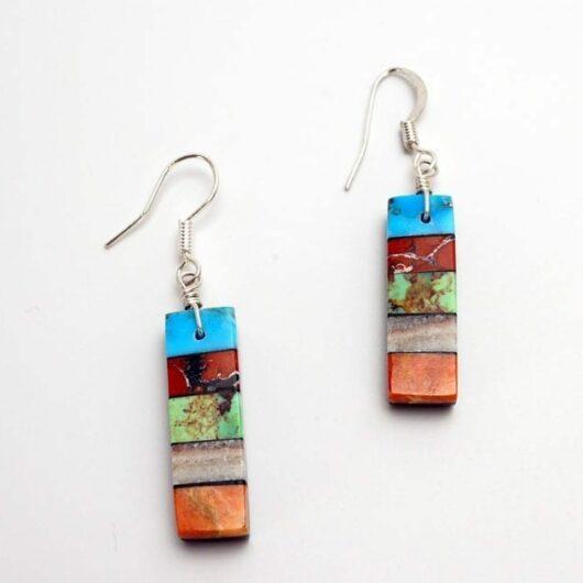 Mary Tafoya Stacked Mosaic Earrings