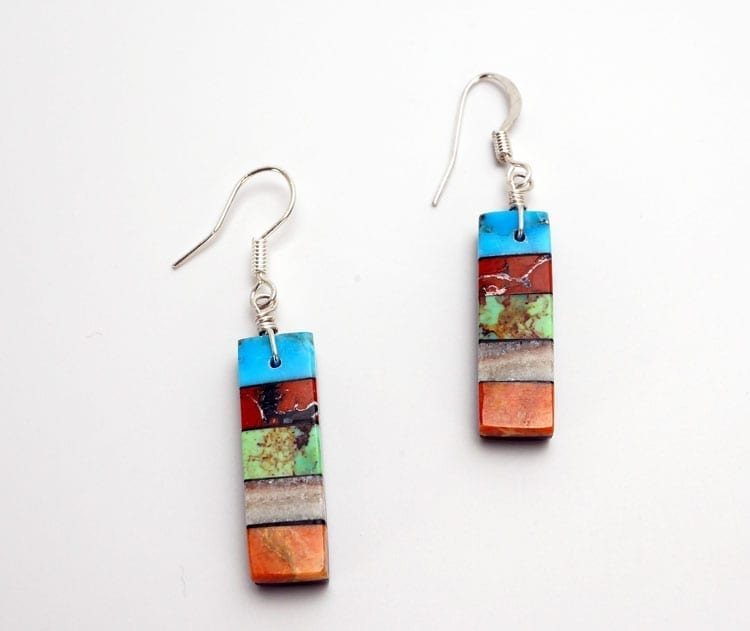 Mary Tafoya Stacked Mosaic Earrings