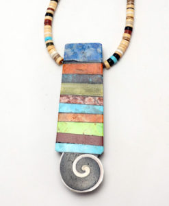 Mary Tafoya Stacked Mosaic Necklace