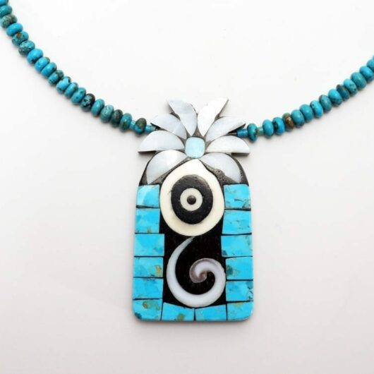 Mary Tafoya Turquoise Flower Necklace