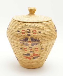 Vintage Hooper Bay Basket Geometric Shapes