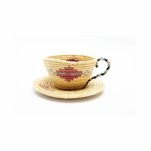 Vintage Hooper Bay woven cup and saucer