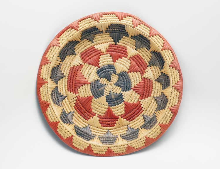 Vintage Hooper Bay Woven Grass Platter