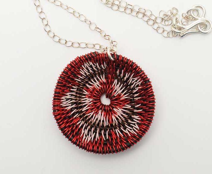 LaKota Scott Chuparosa Basket Necklace