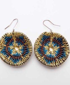 LaKota Scott Dune Sunflower Basket Earrings