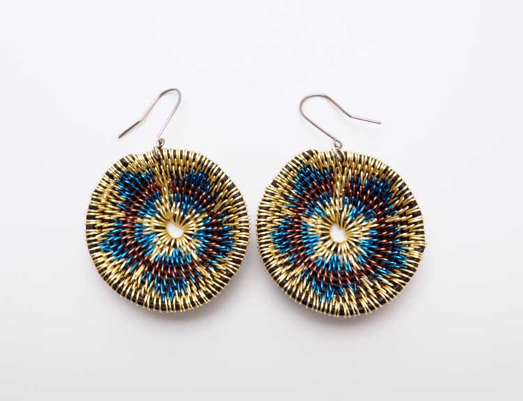 LaKota Scott Dune Sunflower Basket Earrings