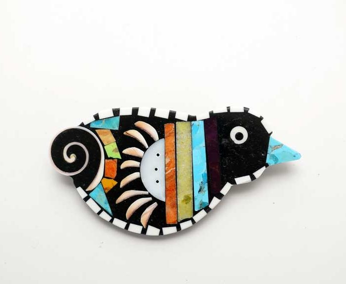 Mary Tafoya Bird Pendant Pin