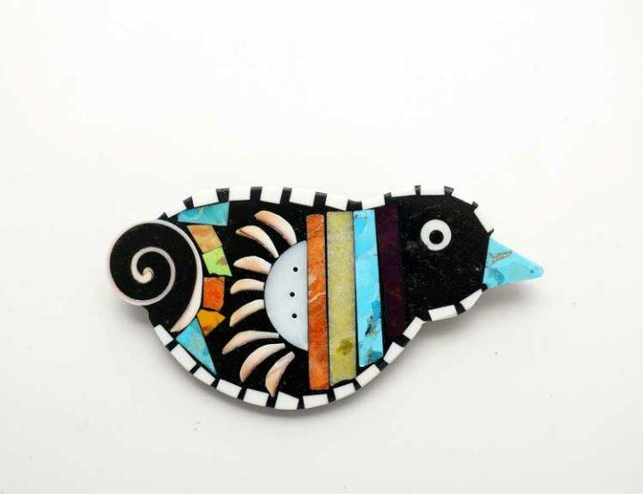 Mary Tafoya Bird Pendant Pin