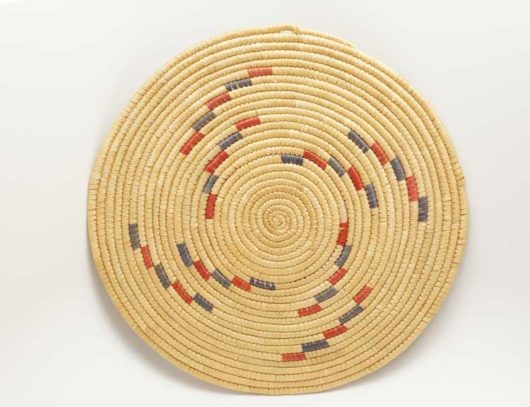 Vintage Hooper Bay woven Grass Plaque