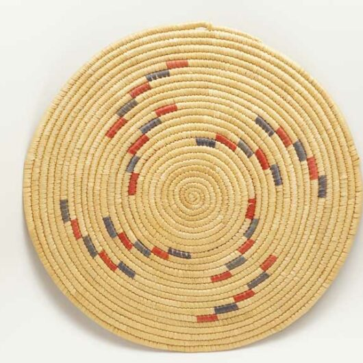 Vintage Hooper Bay woven Grass Plaque