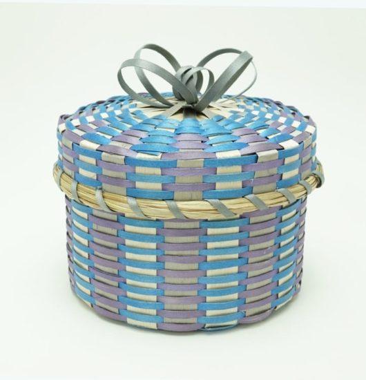 Allen Hold Passamaquoddy basket