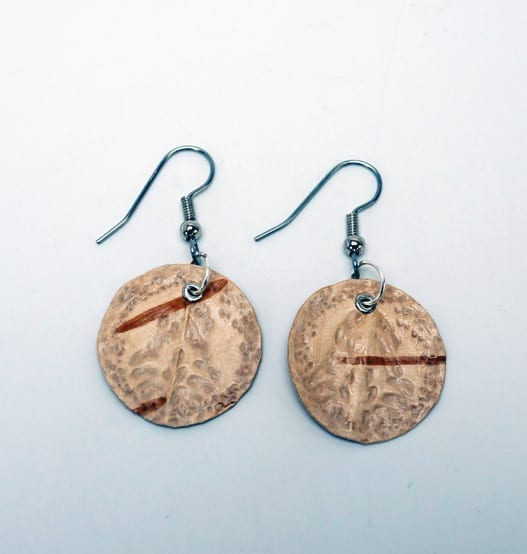 Bonnie Newsom birch bark earrings