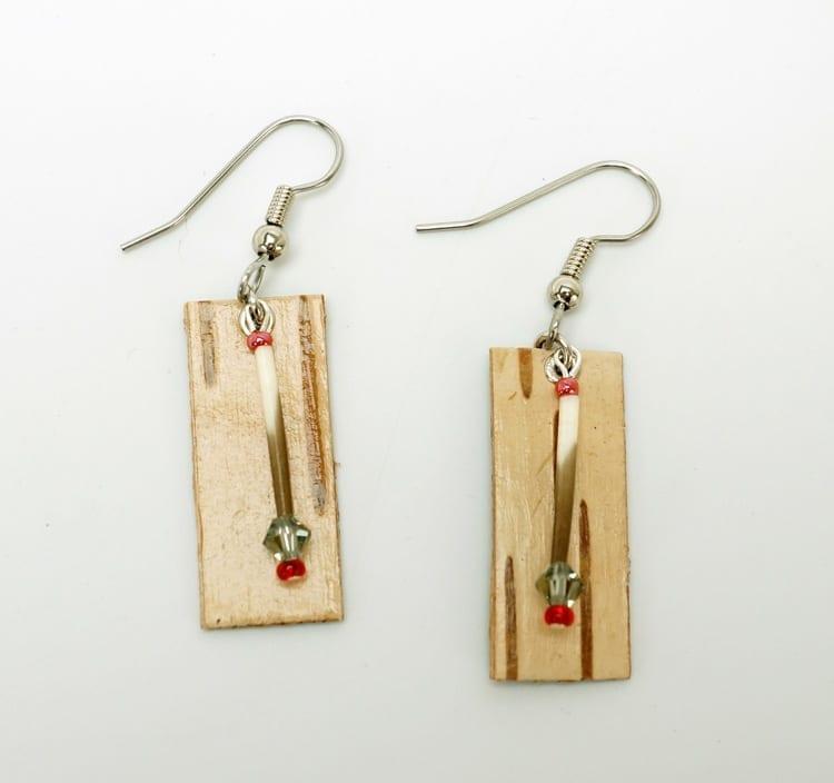 Bonnie Newsom Birch Bark Earrings 2