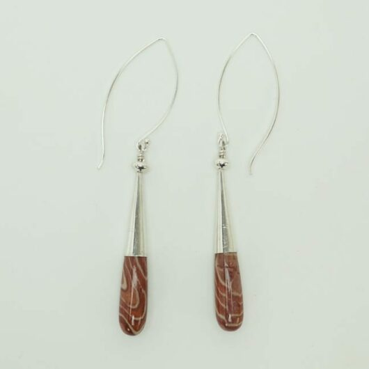 Coren Conti peppermint jasper earrings