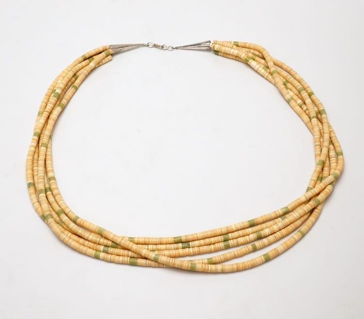 Vintage five strand melon shell necklace
