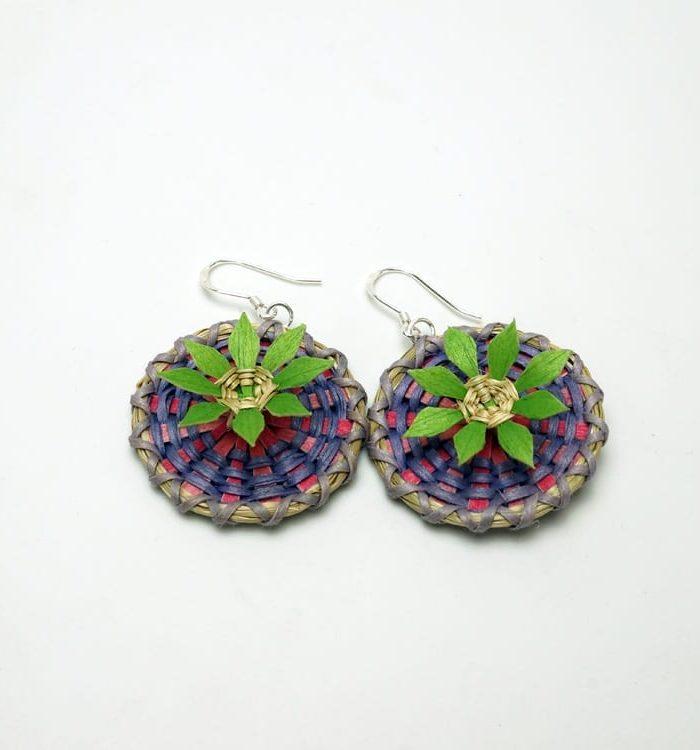 George Neptune flower earrings