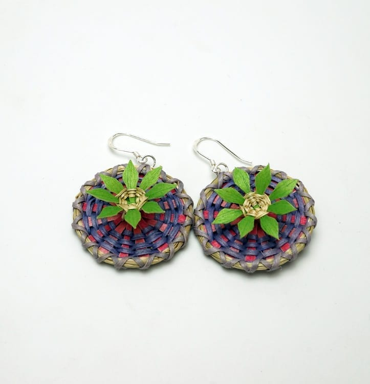George Neptune flower earrings