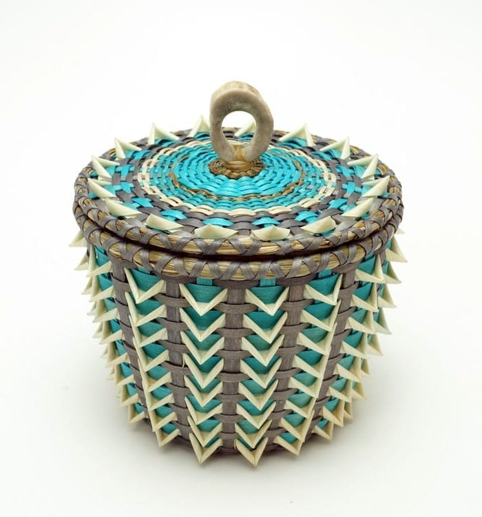 Sarah Sockbeson turquoise point basket