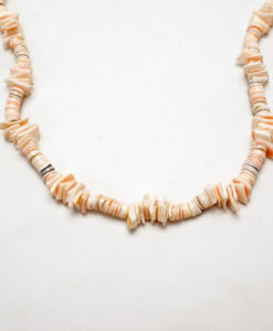 Vintage shell heishi and bead necklace