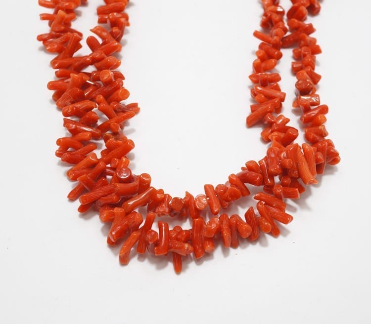 Vintage Two Strand Coral Necklace Home Amp Away Gallery