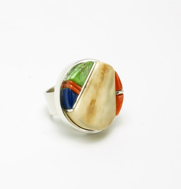 Hason Smith round inlay ring
